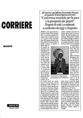 Il Corriere di Arezzo, 29 June 2002